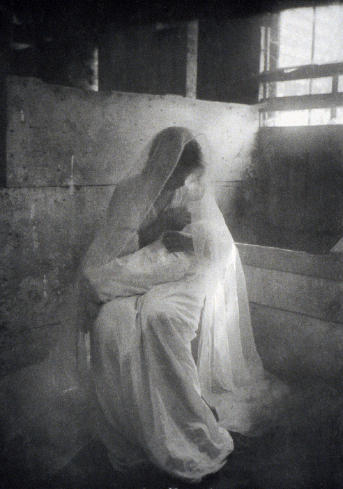 1900s Photograph - The Manger, By Gertrude Kasebier, Shows by Everett