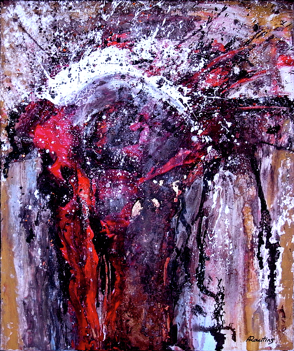 Jesus Painting - The Martyrdom by Agris Rautins
