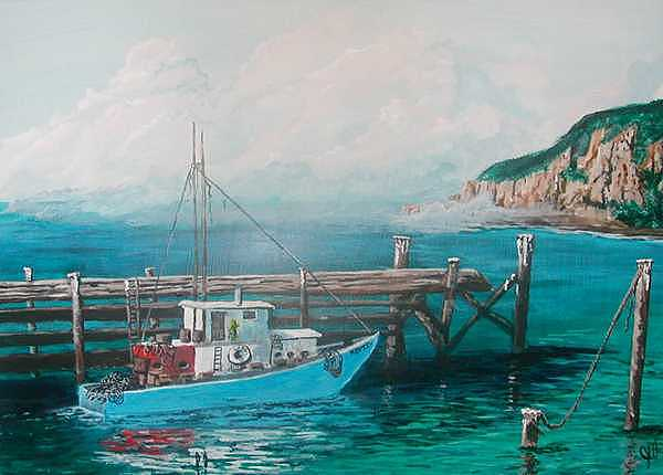 Fishing Boat Painting - The Mary Jane by John Wise