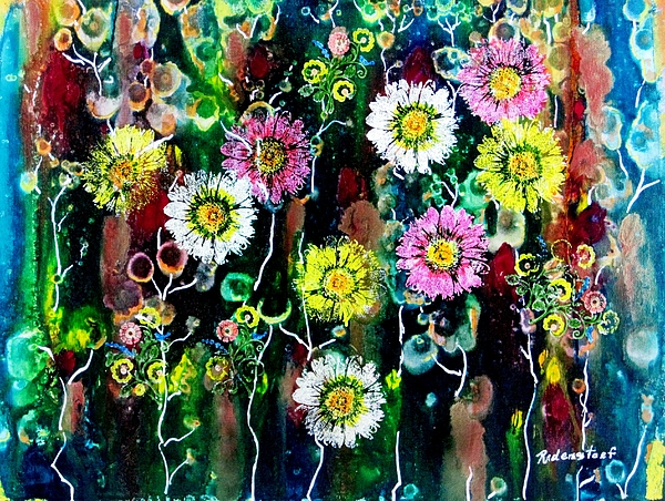 Daisy Painting - The Meadow by David Raderstorf