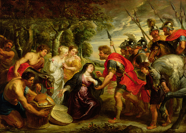 Dtr140303 Photograph - The Meeting Of David And Abigail by Peter Paul Rubens