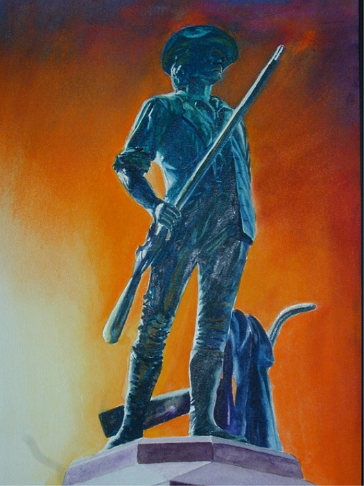 Patriot Painting - The Minuteman by Dwight Williams