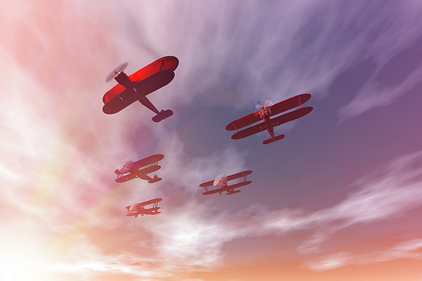 Aircraft Digital Art - The Missing Man II by Carol and Mike Werner