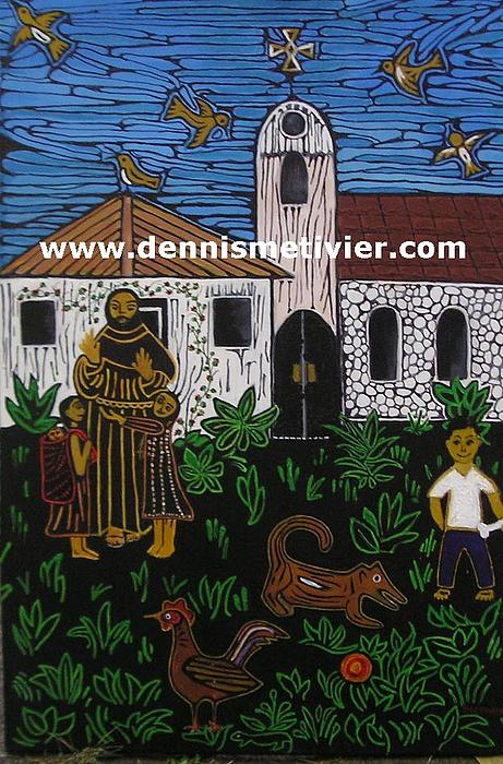Mexico Painting - The Mission by Dennis  Metivier