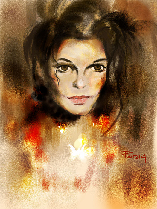 Mj Painting - The Mj Look by Parag Pendharkar