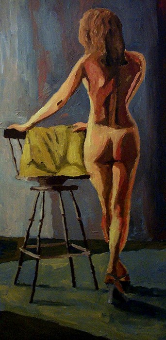 Nude Painting - The Model by Mats Eriksson