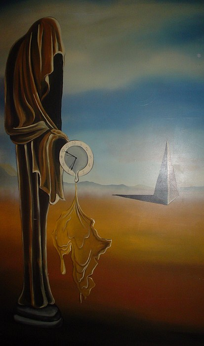 Clock Painting - The Monk by Chris Mc Crossan
