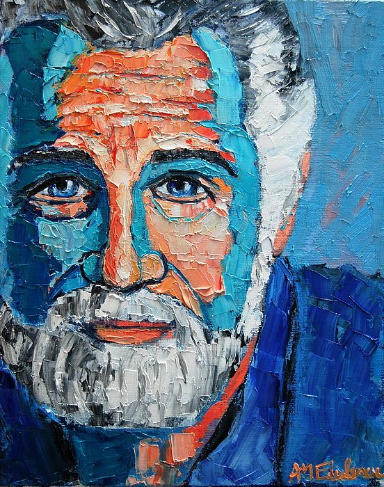 The Painting - The Most Interesting Man In The World by Ana Maria Edulescu