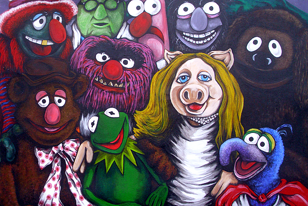 Muppets Painting - The Muppets Tribute by Sam Hane