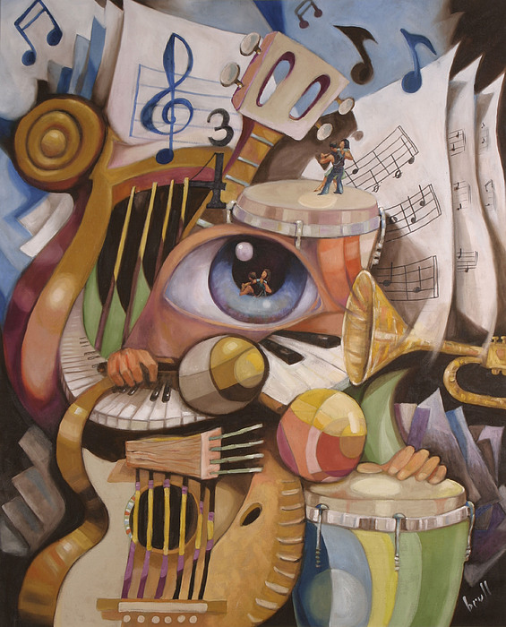 Music Print - The Music by Pedro Brull