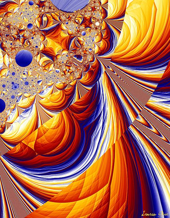 Path Digital Art - The Narrow Path by Lauren Goia