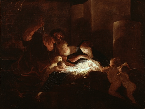 The Painting - The Nativity by Pierre Louis Cretey or Cretet