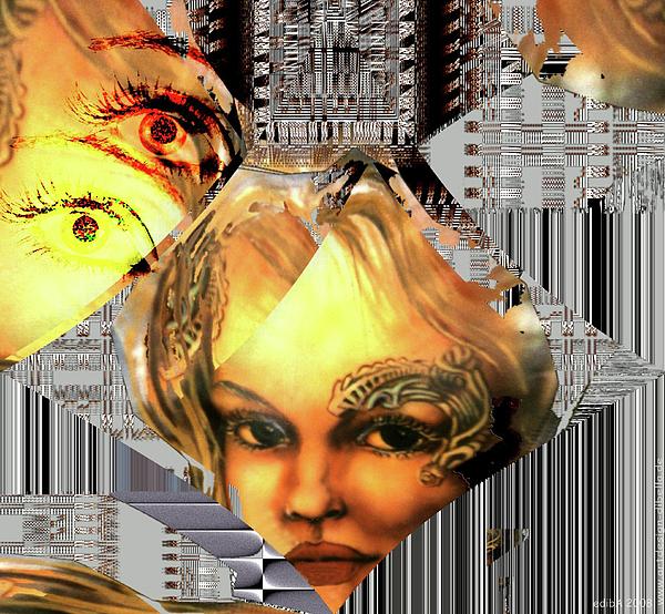 Airbrush Painting Digital Art - The Next Generation Detail by Eva-Maria Di Bella