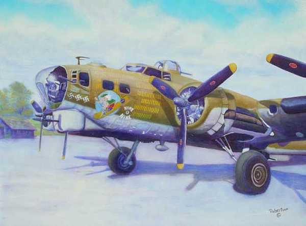 B-17 Painting - The Nine O Nine by Scott Robertson