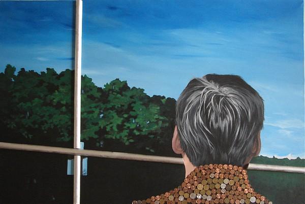 Man Mixed Media - The Ny Tourist by Luminita Gliga