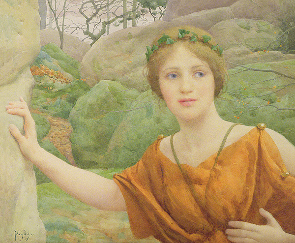 The Painting - The Nymph by Thomas Cooper Gotch