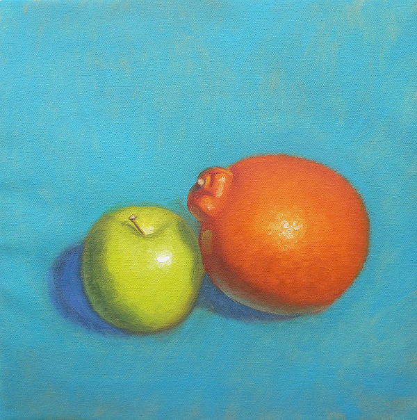 Still Life Painting - The Odd Couple by Bart  Dluhy
