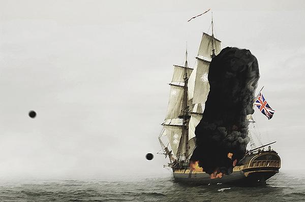 British Ship Digital Art - The Old Brit by Tyler Martin