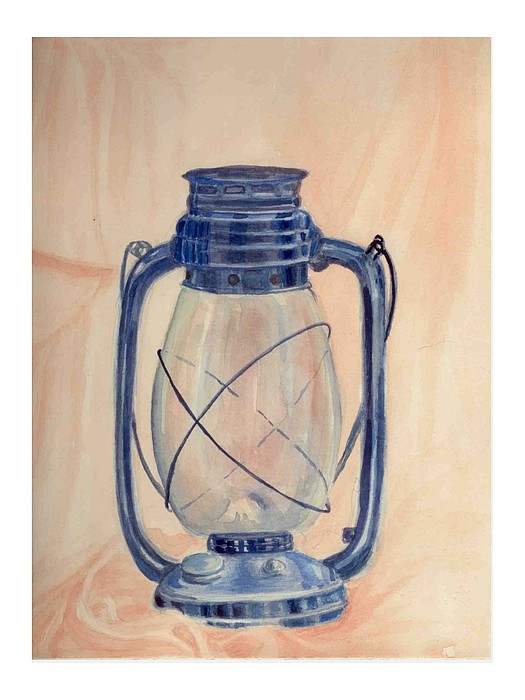 Lantern Painting - The Old Lantern by Asha Sudhaker Shenoy