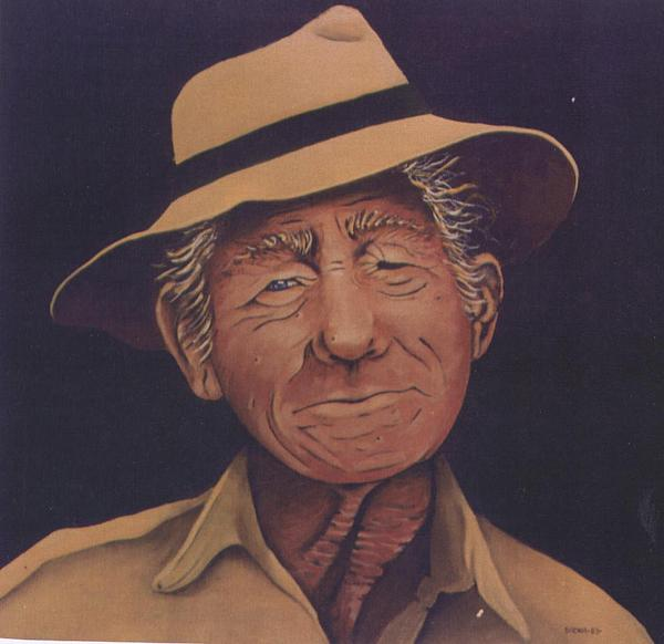 Sacha Circulism Painting - The Old Man  1983 by S A C H A -  Circulism Technique