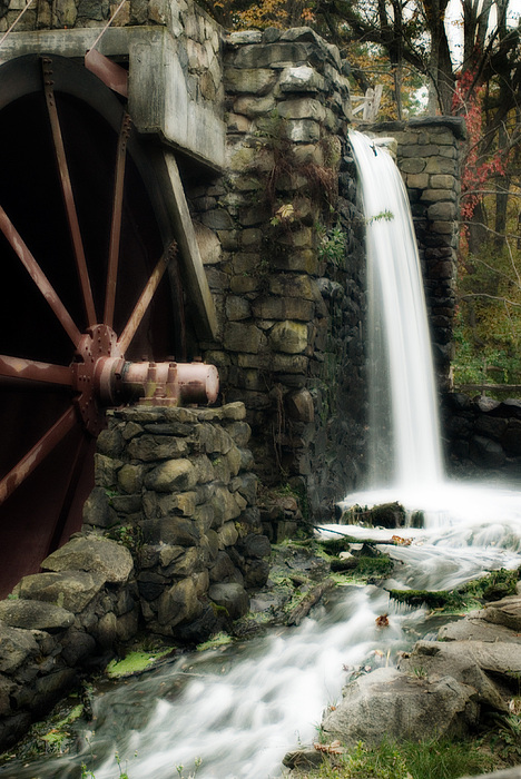 Longfellow's Wayside Inn Photograph - The Old Mill by Renee Hong