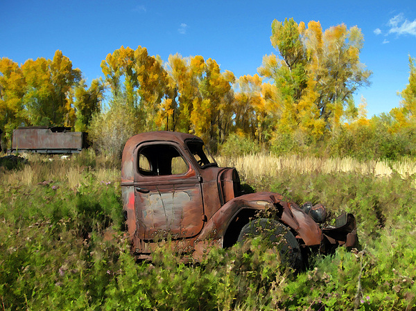 Truck Photograph - The Old Truck  Chama New Mexico by Kurt Van Wagner