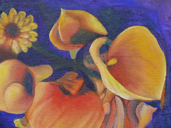 Canna Painting - The Only One by Terri Thompson