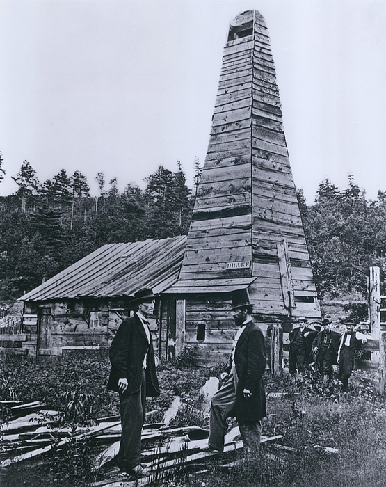 History Photograph - The Original 1859 Drake Oil Well by Everett