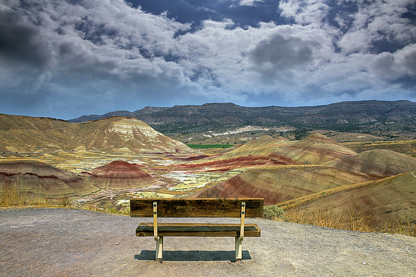 Painted Hills Photograph - The Overlook At Painted Hills In Oregon by David Gn