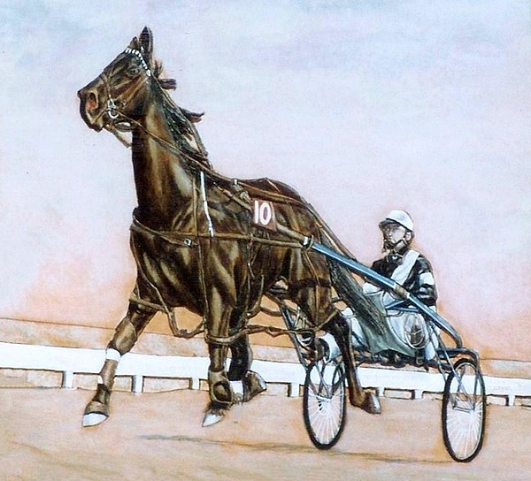 Horses Painting - The Pacer by Lilly King