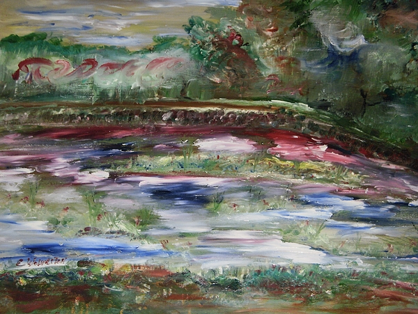 Landscape Painting - The Park Beneath The Rainbow by Edward Wolverton