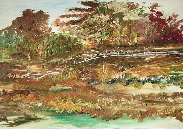 Landscape Painting - The Park by Edward Wolverton