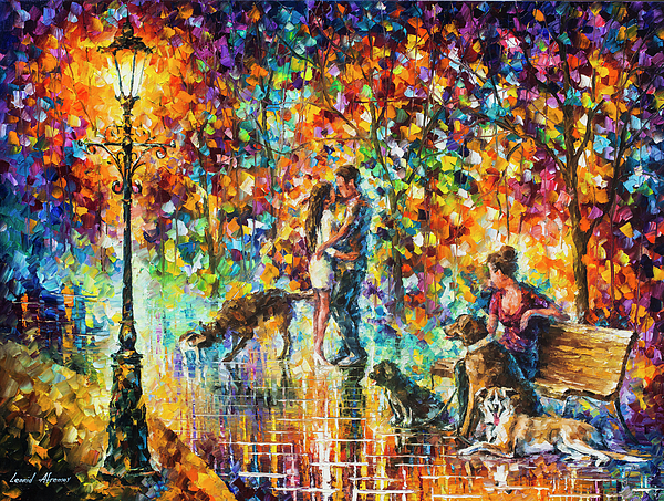 Painting Painting - The Park Of Advanture  by Leonid Afremov