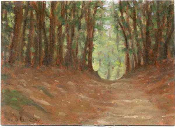 Oil Painting Painting - The Path To Opas House by Michael Gillespie