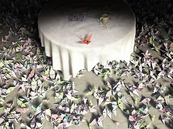 Origami Digital Art - The Perfectionist by Cynthia Decker