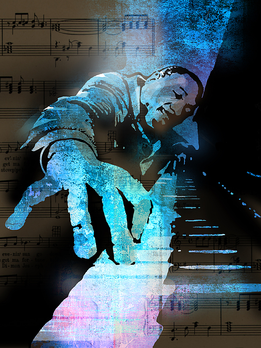 Blues Painting - The Piano Man by Paul Sachtleben