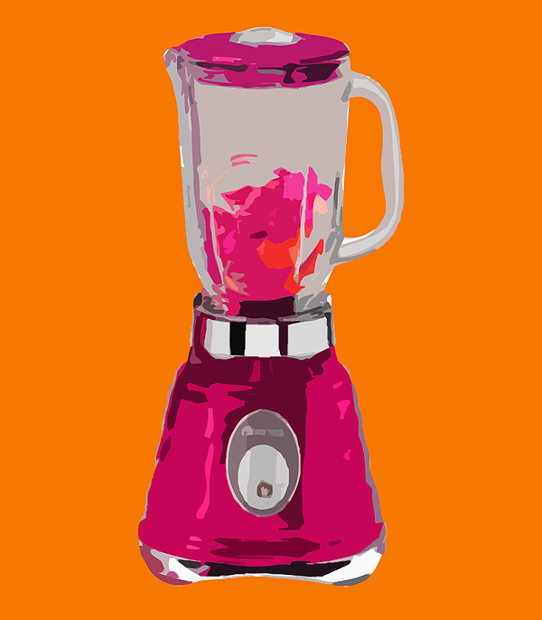 Blender Painting - The Pink Blender by Peter Oconor