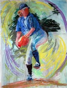 The Pitch Painting by Barbara Noonan