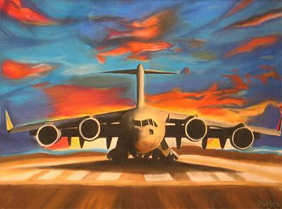 Plane Painting - The Plane by Unk mexican artist