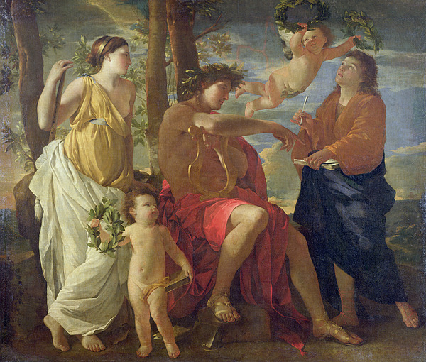 The Painting - The Poets Inspiration by Nicolas Poussin