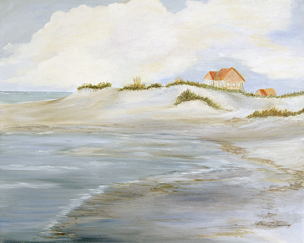 Coastal Landscape Painting - The Point by Shirley Lawing
