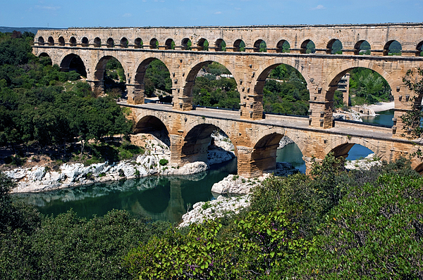 Ancient Photograph - The Pont Du Gard by Sami Sarkis