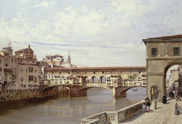 The Painting - The Pontevecchio - Florence  by Antonietta Brandeis