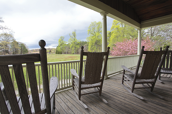 Rocking Chairs Photograph - The Porch  by Steve Gravano