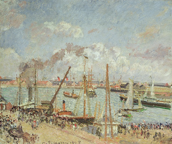 The Painting - The Port Of Le Havre In The Afternoon Sun by Camille Pissarro