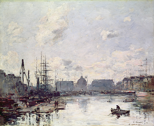 The Painting - The Port Of Trade by Eugene Louis Boudin