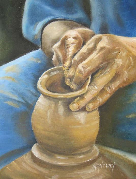 Potter Painting - The Potter by Allan Carey
