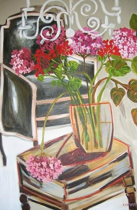 Floral Painting - The Presidents Chair by Amal Hamady