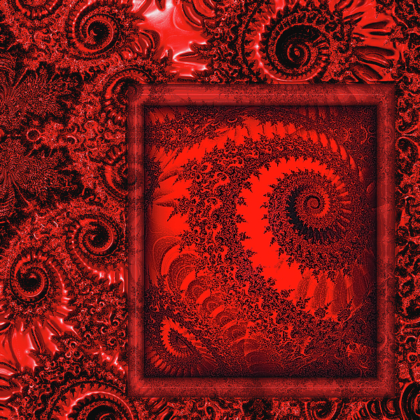 Paisley Digital Art - The Proper Victorian In Red  by Wendy J St Christopher