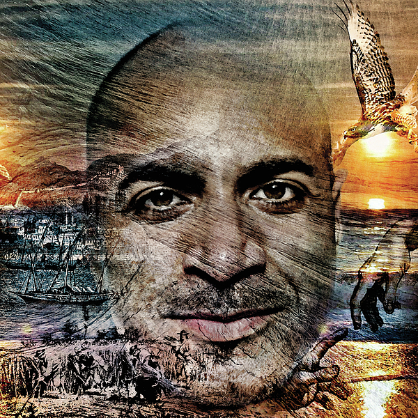 Kahlil Gibran Digital Art - The Prophet Coming Of The Ship by Barry Novis